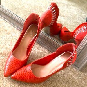 Snakeskin like shoes